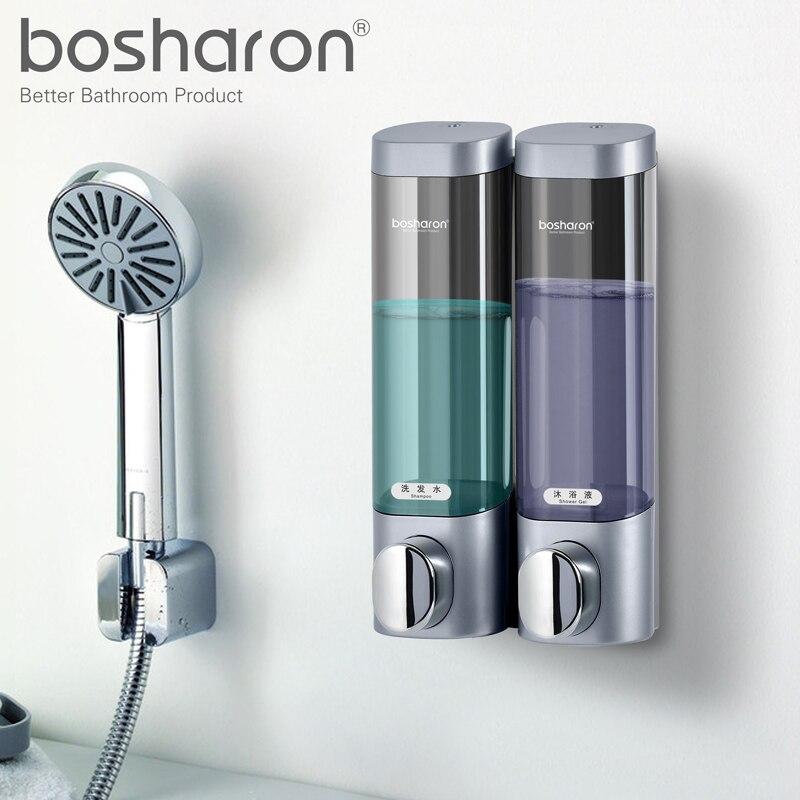 Distributore di Sapone liquido A Parete 300 ml di Plastica Shampoo Doccia Gel Dispenser Disinfettante Per Le Mani La Cucina di Casa Accessori Per il Bagno