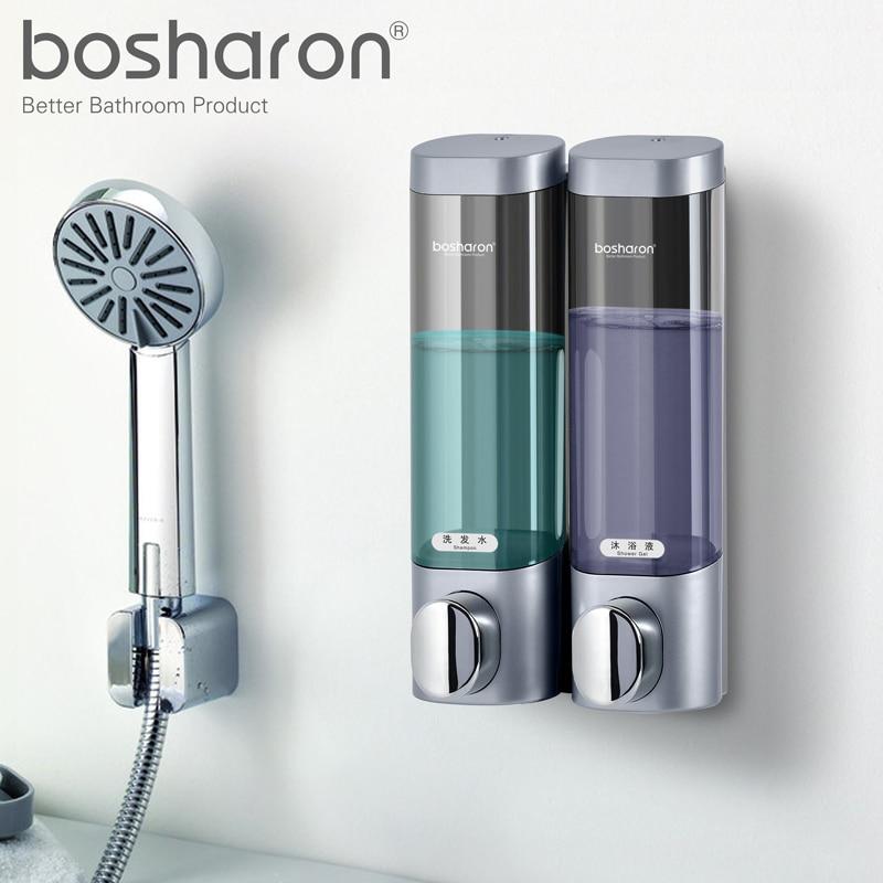 Dispenser Kitchen Office Furniture Liquid Soap Wall Mounted 300ml Plastic Shower Gel Shampoo Dispensers Hand Sanitizer Home Bathroom Accessories