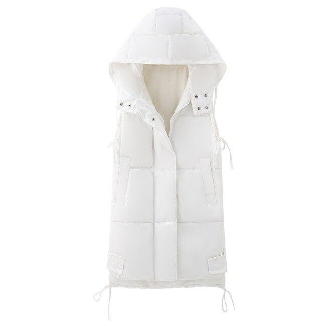 Voobuyla Plus Size 5XL Long Vest Women Sleeveless Jacket Down Cotton Warm Vest Mujer 2018 Autumn Winter Hoodies Waistcoat Female 4