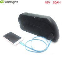 Bateria 48v 1000w electric bike battery 48v 20ah tigershark down tube ebike battery with 5V USB +charger +bms