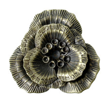 DoreenBeads Antique Bronze Flower Embellishment Findings 4.6×4.3cm(1-3/4″x1-3/4″), sold per lot of 10 (B17635), yiwu