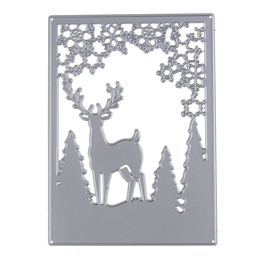 New 92*127mm Xmas Deer Frame Steel Metal Die Cutting Dies ...