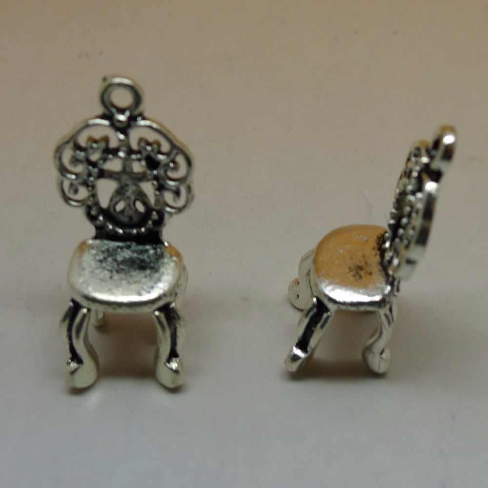 Али 25 шт./лот старинное Серебряное кресло подвески 10x26 мм Винтаж ретро шаблон Подвеска ювелирных изделий