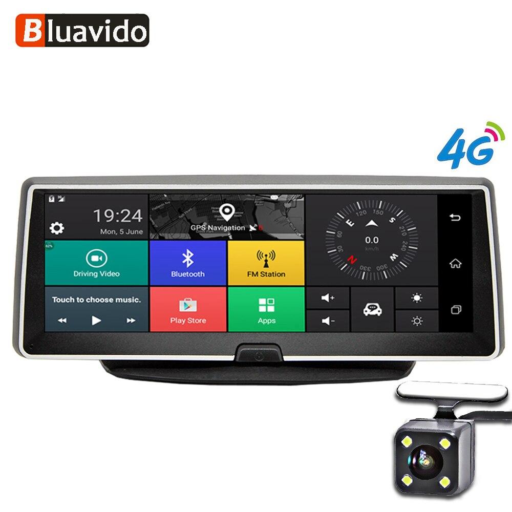 Bluavido 8 Pouces caméra de tableau de bord de voiture 4G Android navigation gps ADAS FHD 1080 P dvr de voiture enregistreur vidéo vision nocturne moniteur de stationnement