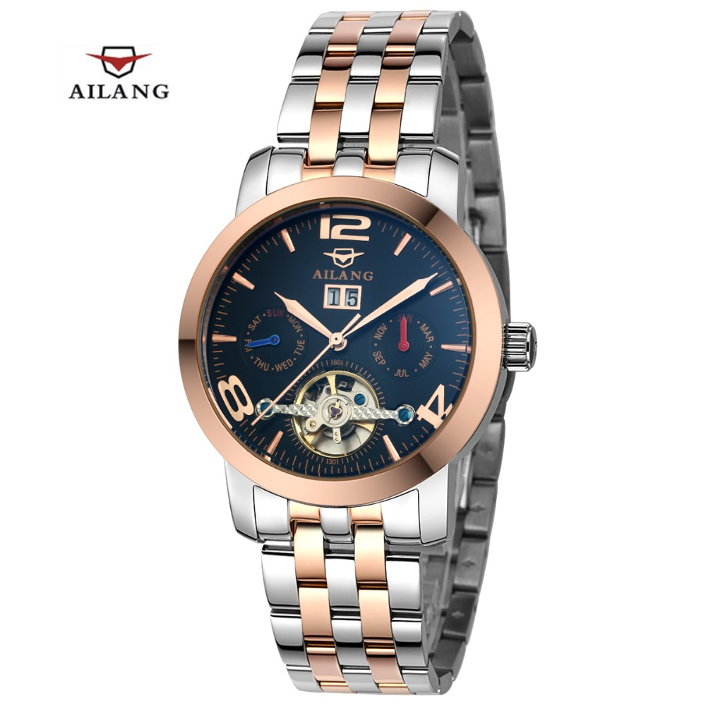 2016 AILANG Mens Automatic mechanical Watches Men Dive Full stainless steel Watches Man Fashion Casual Business Wristwatches