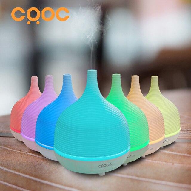 CRDC 500ML увлажнитель воздуха Ультразвуковой освежитель воздуха для дома ультразвуковой Эфирное масло Диффузор с цветным светодиодом автоматический таймер для дома Ароматерапевтический