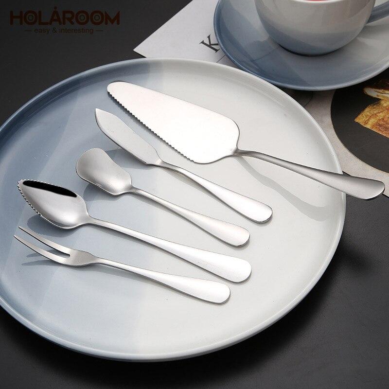 Steel Kitchen /& Dining Cutlery Cake Scraper Dinnerware Tableware Fruit Fork