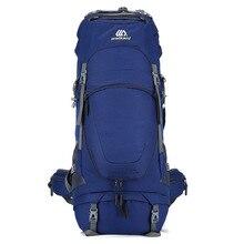 80L unisex กระเป๋าเป้สะพายหลังชายกันน้ำกระเป๋าเดินทางกีฬากระเป๋ากลางแจ้ง Camping ปีนเขาปีนเขากระเป๋าเป้สะพายหลังสำหรับชาย