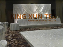Good Looking White Color Wedding Backdrop Curtain With Swag Drape Decoration