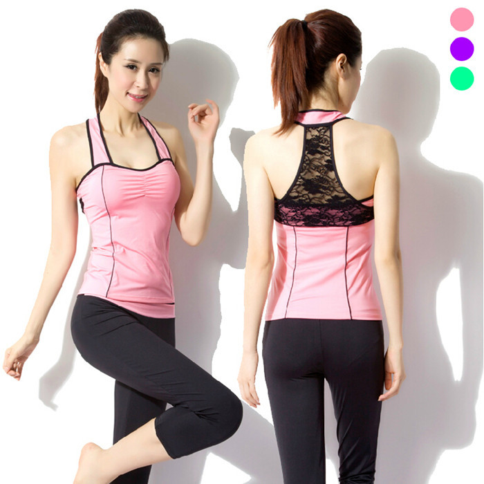 Sport Yoga Set Women Lace Yoga Clothes High Quality