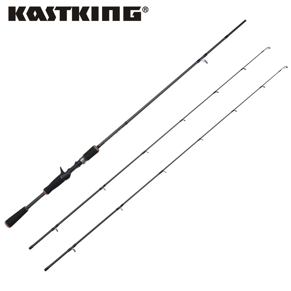 KastKing Super Light Two kinds of Tips Carbon Fiber Baitcasting Fishing Rod 1.98M/2.10M MF Action Lure Fishing Rod