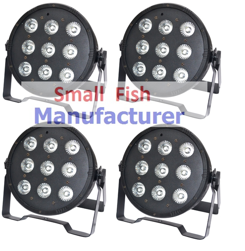Free shipping Hot 9x10W 4in1 RGBW Led Stage Light High Power LED Flat Par Can With DMX512 Master Slave DJ Equipment Controller starline b64 2 can slave