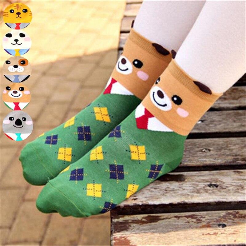 Hot sale! women cartoon   socks   autumn-winter colorful cotton cute cartoon   sock   lady and women's funny   socks