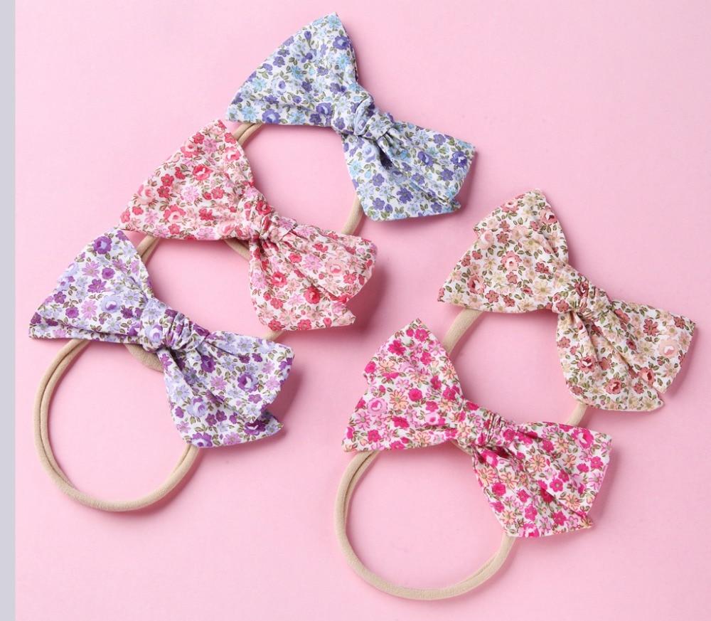 2 8 Quot Newborn Cotton Fabric Bow Headband Girls Floral Print
