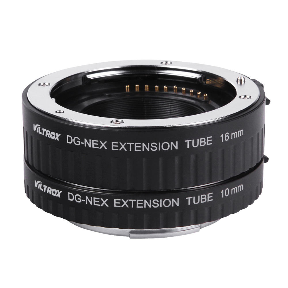 Viltrox DG NEX Auto Focus AF Macro Extension Tube Ring 10mm 16mm Set Metal Mount for Sony E mount Lens-in Lens Adapter from Consumer Electronics    1