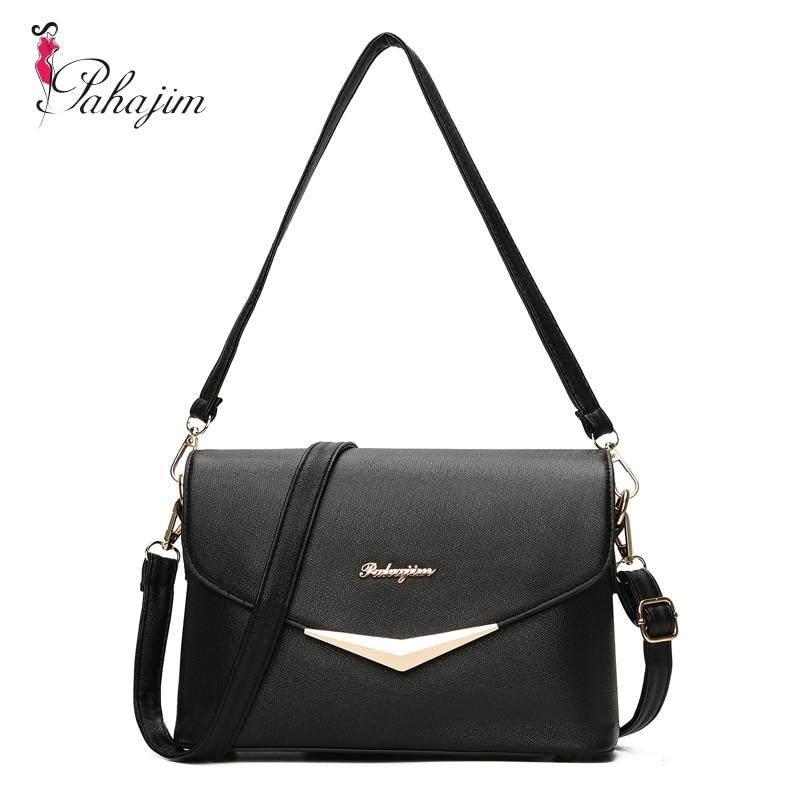 Pahajim Fashion Women Bag Fresh Ladies Handbags Casual Crossbody PU Messenger Bags Teenagers College Sac
