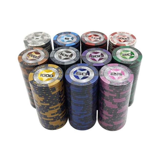 Clay Poker Chip 25 pcs Set