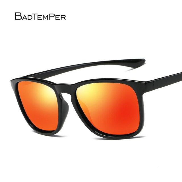 130320ca3ecf2 Badtemper Marca Clássicos Óculos Polarizados Homens Verão Condução Laranja  Quadrado Quadro Óculos Masculinos Óculos de Sol