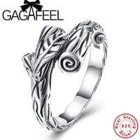 GAGAFEEL Großhandel Echte 100% Echt Reine 925 Sterling Silber Ringe Zweige Form Ring Original Edlen Schmuck UNS 6.7.8