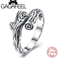 GAGAFEEL Wholesale Genuine 100% Real Pure 925 Sterling Silver Rings Branches Shape Ring Original Fine Jewelry US Size 6.7.8
