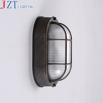 E27 Bulb American Country Vintage Wrought Iron Personality Loft Industrial Corridor Bar Balcony Bedroom Bedside Wall Lamp