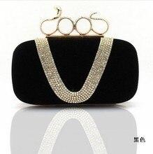 206 edle Luxus Kristall Clutch Abendtasche Einzelnen Diamant Bling Kupplungen Handtaschen Strass Braut Taschen SMYCYX-E0065