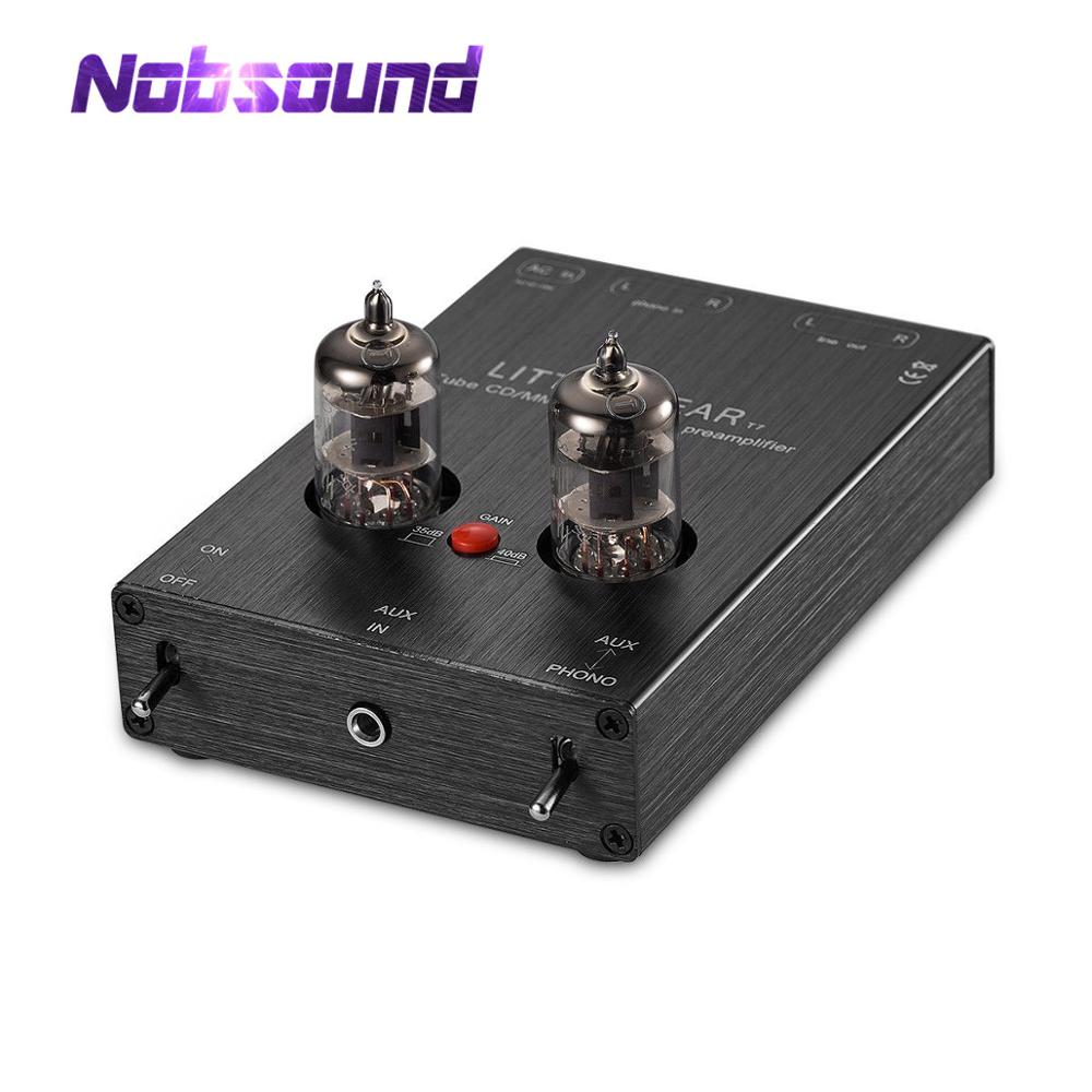 Nobsound Latest Little Bear T7 6J1 Valve Tube AUX & MM Phono Turntable Pre-Amplifier Hi-Fi Stereo Preamp Free Shipping
