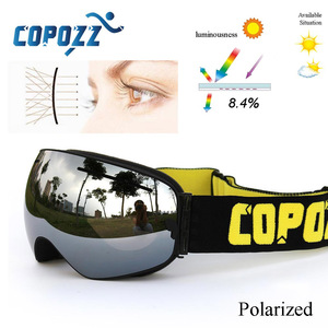 Image 2 - COPOZZ New Polarized Ski Goggles Double lens Snowboard UV400 Sneeuwbril Anti fog Ski Glasses Skiing Adult Snow Goggles GOG 201P