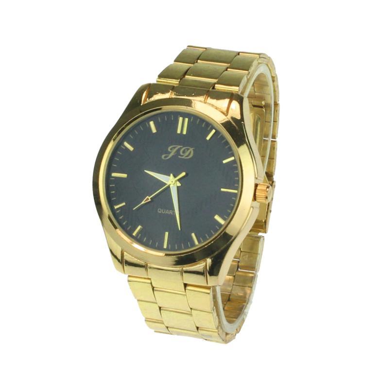New Gold Watch Man Luxury Steel Men Stainless Steel Golden Classic Analog Quartz  WristWatch Clock Wholesale Relojes Masculino декоративные украшения gold man rw 13