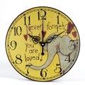 Современные настенные часы с бесшумным Рисунком Слона  большие декоративные настенные часы в стиле ретро для офиса  детской комнаты  дома и ...