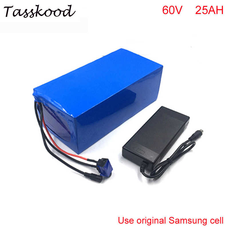 ebike lithium battery 60v 25ah Electric Bicycle battery 60v electric scooter battery for kit electric bike Use Samsung cell