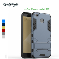 xiaomi redmi 4x case xiaomi redmi 4x pro cover case bumper 2 in 1 redmi 4x 5.0 WolfRule Funda redmi4x case For xiaomi redmi 4x