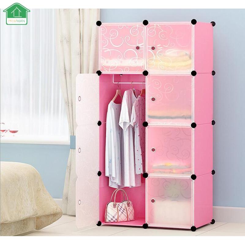 PRWMAN Möbel Kleiderschrank DIY Modulare Regale Einfache Lagerung ...