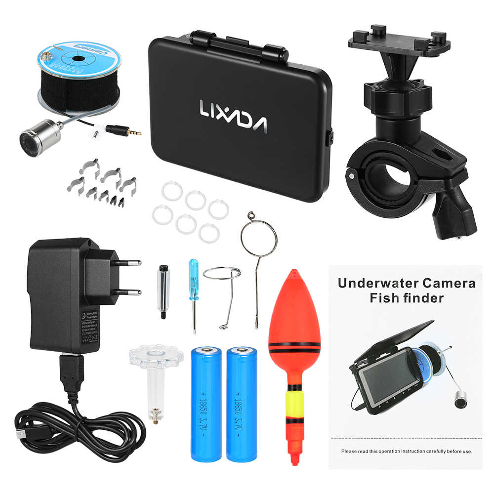 "Lixada 15M / 30M 1000TVL Fish Finder Underwater Ice Fishing Camera 4.3"" LCD Monitor 8 Infrared IR LED Night Vision Camera"