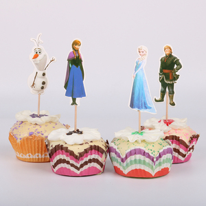 24 шт., Эльза, Анна, кексы, пики, Детские вечерние украшения на день рождения, дети, принцесса, свадебное украшение, торты
