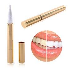 New 1 Pcs Gold  Practical Teeth Whitening Pen Tooth Gel Whitener Bleach Stain Eraser Remover Instant