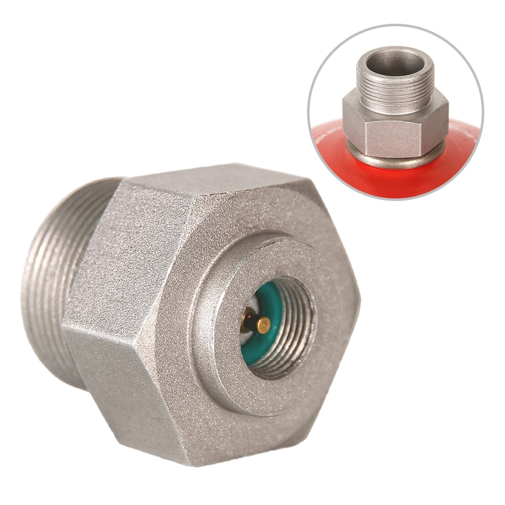 Outdoor Camping Gas Stove Connector Adapter Converter Picnic Propane Bottle