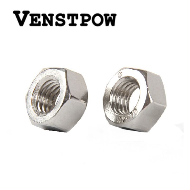 100pcs-lot-metric-thread-din934-m2-m25-m3-m4-m5-304-stainless-steel-hex-nuts