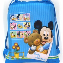 262db6a6cc6 1pcs Disney Cartoon Mickey Mouse Theme Non-woven Fabrics Drawstring Backpack  Shopping Bag Decoratio Kids