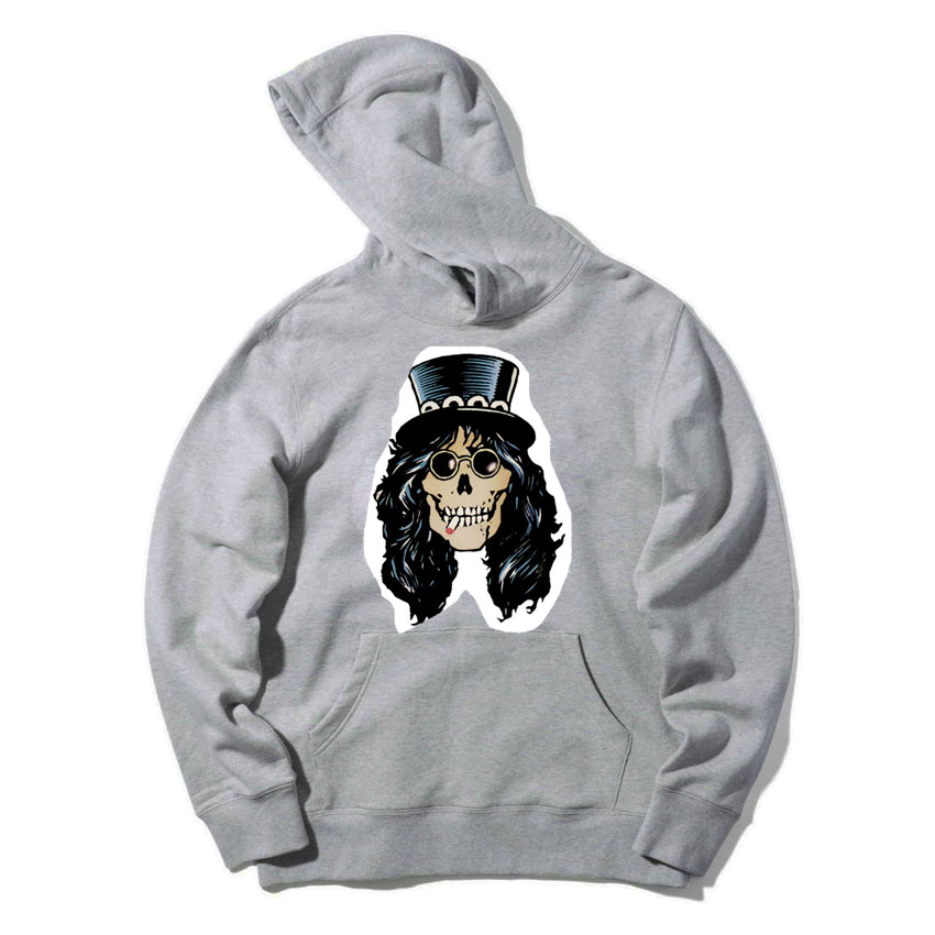 guns and roses skull design patchwork sweatshirts women men size Vintage fashion Spring Autumn Hoodies