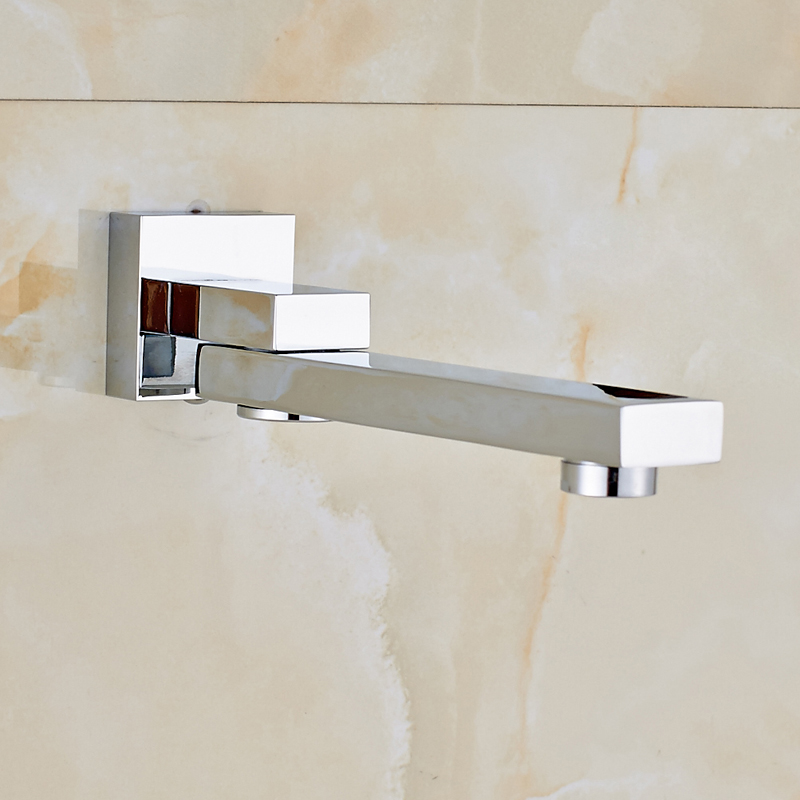 Contemporary Bathroom Tub Faucet Spout Swivel Spout Mixer Tap Chrome Finished