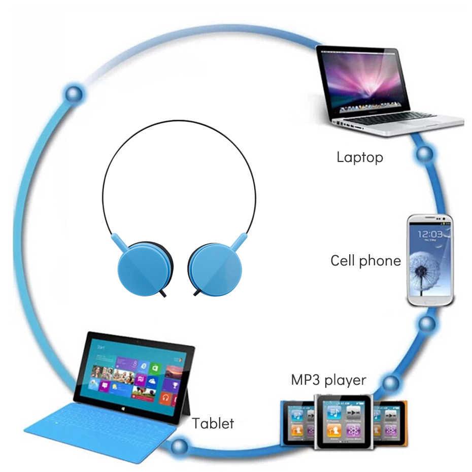 Fone de ouvido com fio sobre a orelha mini estéreo música esporte fone de ouvido para huawei celular esportes mini estéreo baixo