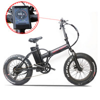 20inch electric bicycle 48V500W bafang motor snow fat ebike 4.0 wide tire 7 speed fold electric mountain bike