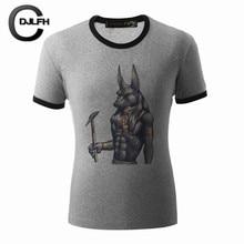 2017 Fashion Summer Printed Men T shirt Short Sleeve Black O Neck Casual Gray t-shirt Cool Tops M-XXXL