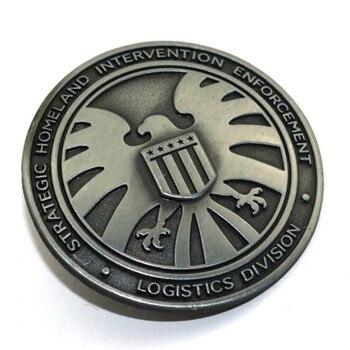 Брошка металлическая Мстители агенты щит 1