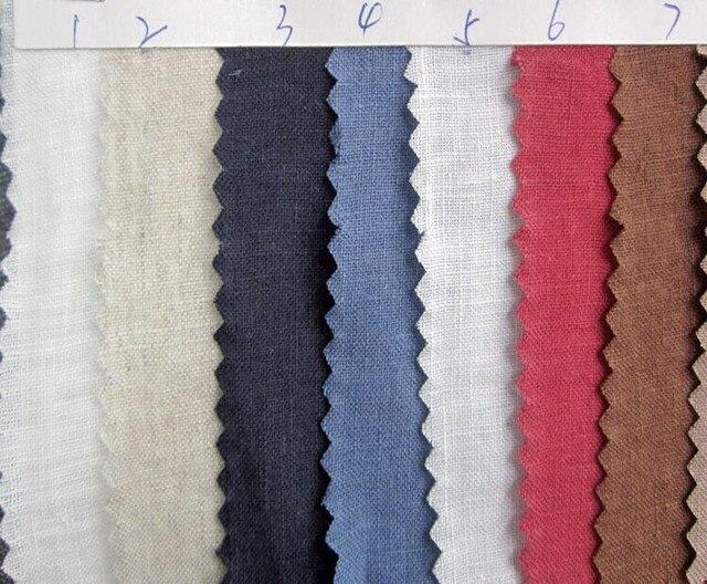 L11716A-tissu lin pur 100% lin | Tissu fin à coudre 140 cm 55 de largeur, 1 mètre pour test déchantillons
