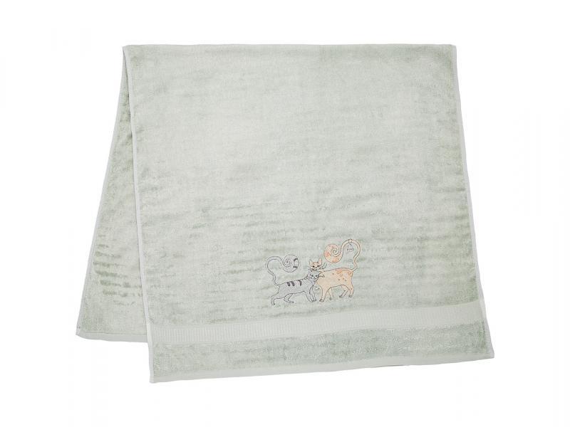 Towel bath SANTALINO, A Pair Of cats, 70*140 cm, фисташковый aliexpress china 1 pair 65 70 cm 50 cm 1 pair long short handle for o bag accessories obag handbags women s 2017