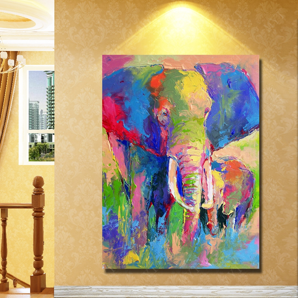 Aliexpress.com : Buy Indian elephant colorful knife oil panting ...