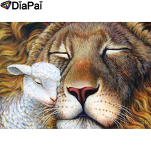 DIAPAI 100% Full Square/Round Drill 5D DIY Diamond Painting Animal lion sheep  Diamond Embroidery Cross Stitch 3D Decor A18652 diapai diamond painting 5d diy 100% full square round drill animal lion diamond embroidery cross stitch 3d decor a24702