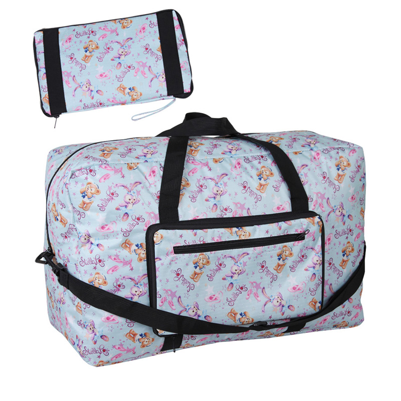 Cute Cartoon Duffy Bear Friends Stellalou Rabbit Ballet Folding Portable Travel Bag For Woman Girls Travel Boarding Luggage Bag